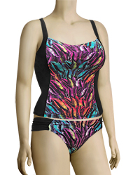 Panache Tallulah Underwire Tankini Top SW0741 - Feather Print