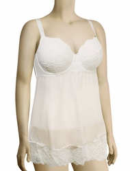 Parfait Elissa Unlined Wire Babydoll P5018 - Pearl White