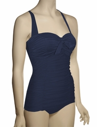 Seafolly Goddess Retro Maillot One Piece Swimsuit 10574-065 - Indigo