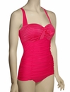 Seafolly Goddess Retro Maillot One Piece Swimsuit 10574-065 - Raspberry