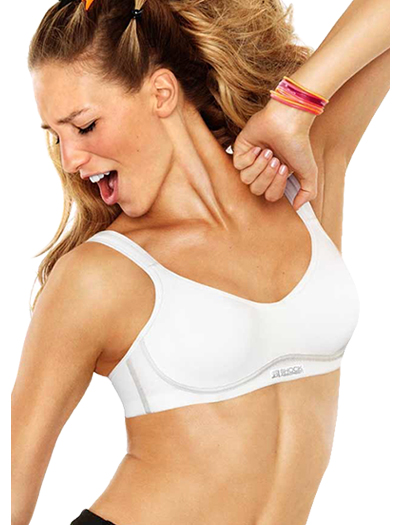 Shock Absorber Active Flexi Wire Sports Bra Top B5063 - White / Silver