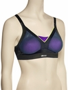 Shock Absorber Active Shaped Support Sports Bra Top S015F - Black / Purple