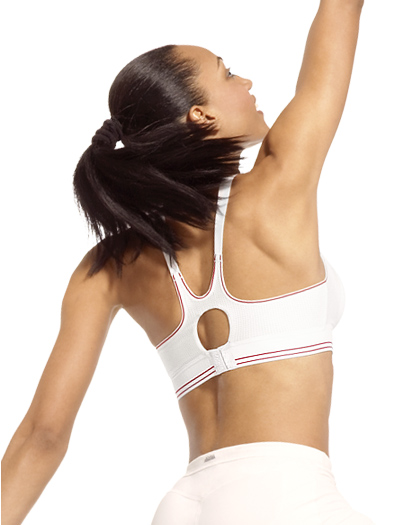 Shock Absorber Ball Sports Bra Top B5046 - White / Red
