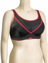 Shock Absorber Ultimate Gym Sports Bra Top S002Z - Black / Red