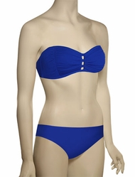 Sunsets Soft Cup Tab Front Bandeau Bikini Top 69T - Deep Sea