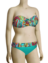 Sunsets Underwire Twist Bandeau Bikini Top 55 - Coronado