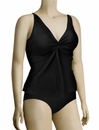 Sunsets Curve Underwire Twist Tankini Top 377T - Black