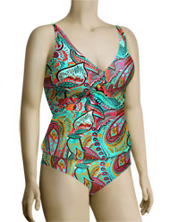 Sunsets Underwire Twist Tankini Top 77 - Coronado