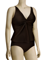 Sunsets Underwire Twist Tankini Top 77 - Dk Chocolate