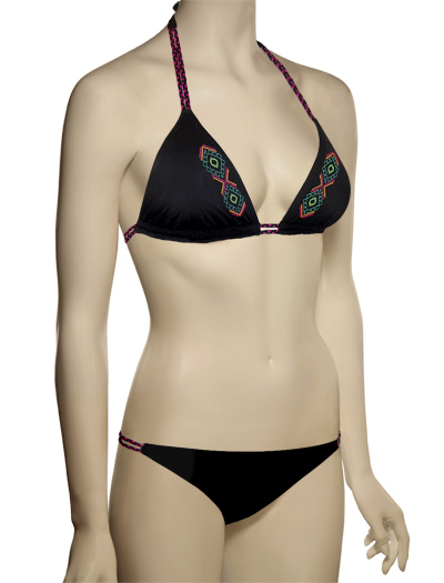 Swim Systems Phoenix Embroidery Braided Triangle Top D634 - Phoenix Emb