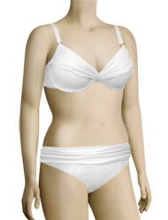 Swim Systems Shirred Underwire Bikini Top G794 - White