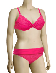 Swim Systems Shirred Underwire Bikini Top G794 - Azalea