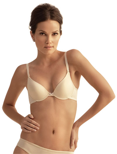 The Little Bra Company Angela Convertible Plunge Push Up Bra E005C - Nude