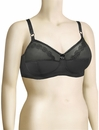 Venus Embroidered Soft Cup Bra 7204 - Black