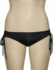 Vitamin A Black EcoLux Part 2 Ava California Cut Bikini Bottom 49B - ECB