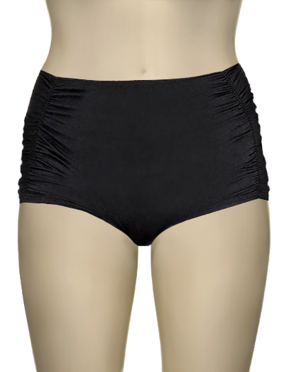 Vitamin A Black EcoLux Part 2 Marilyn Tap Short Bikini Bottom 48B - ECB