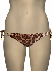 Vitamin A Leopard Celebrity String Tie Side Bikini Bottom 06NB - LPP