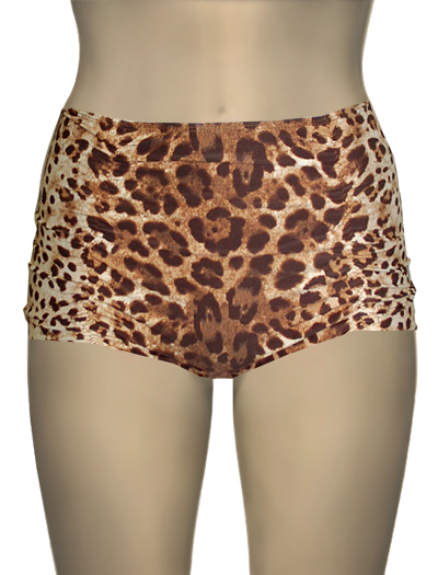 Vitamin A Leopard Marilyn Tap Short Bikini Bottom 48B - LPP