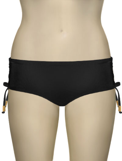 Voda Swim Classic Cut Adjustable Scoop Bottom B06 - Black