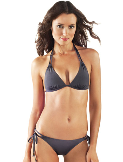 Voda Swim Envy Push Up Double String Halter Bikini Top E05 - Charcoal