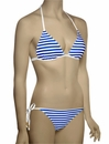 Voda Swim Envy Push Up String Bikini Top E01 - Royal Stripe