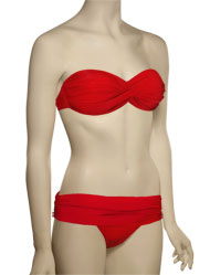 Voda Swim Envy Push Up Twist Bandeau Bikini Top E18 - Scarlet