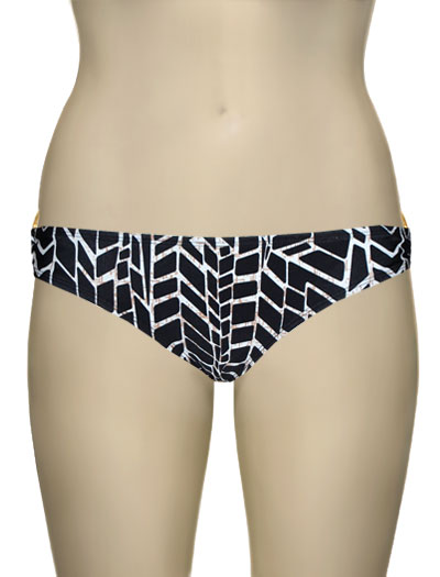 Voda Swim Gold Hoop Classic Cut Scoop Bottom B08 - Kenya