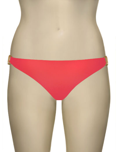 Voda Swim Natural Stone Scoop Bikini Bottom B09 - Grapefruit