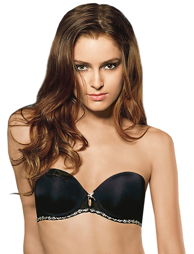B.tempt'd Faithfully Yours Strapless Push Up Bra 954108 - Night