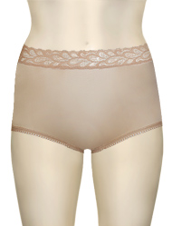 Wacoal BodySuede Brief With Lace Waist 89366 - Natural Nude