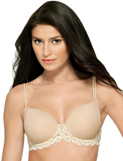 Wacoal Embrace Lace Contour Wire Molded Bra 853191 - Natural / Ivory