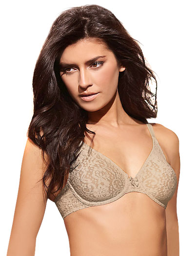 Wacoal Halo Lace Seamless Underwire Bra 65149 - Toast