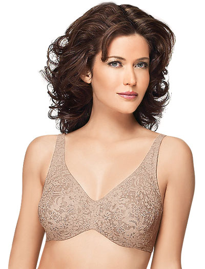 Wacoal Halo Lace Underwire Bra 65547 - Toast