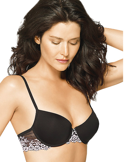 Wacoal Petites Embrace Lace Push Up Bra 75891 in Black, Wacoal 75891