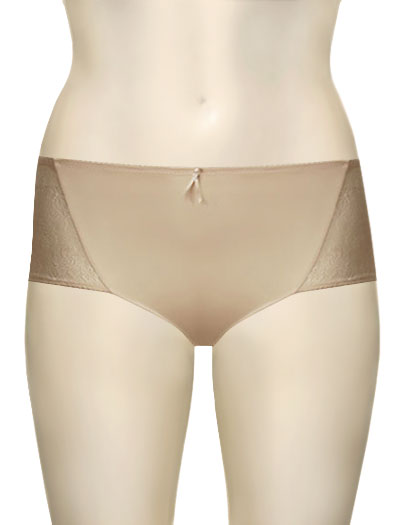 Wacoal Pure and Simple Hi Cut Brief 84194 - Nude