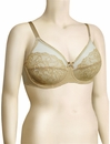 Wacoal Retro Chic Full Figure Underwire Bra 855186 - Toast