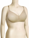 Wacoal Visual Effects Wire Free Minimizer Bra 852210 - Sand