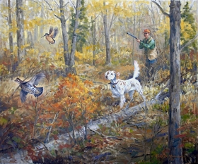 """<font size=""""2"""" font color=""""red"""">NEW</font> Setter: Chance for a Mixed Double – giclee"""