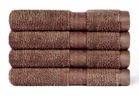 """100% Cotton Super Soft Highly Absorbent Luxury Wash Cloth - 13"""" x 13"""" - 4 pk"""