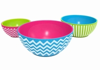 16 Pieces Multi-Color Melamine Dinnerware Set with Salad Plates