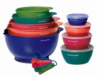 18-Piece KitchenAid Mixing Bowls and Prep set