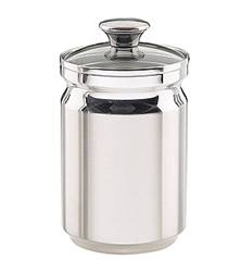 2 Qt. Stainless Steel Covered Canister with Glass Lid