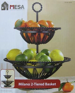 2 Tier French Wire fruit or Bread basket