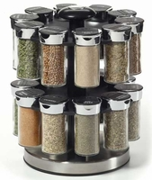20-Jar Rotating Spice Rack with Spices