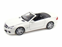 2009 Mercedes-Benz SL 63 AMG Convertible 1/18 diecast car White