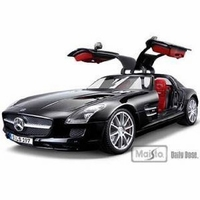 2011 Mercedes SLS Gullwing AMG Black 1/18 diecast cars