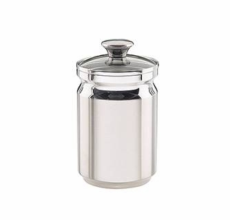 3 Qt Stainless Steel Canister With Glass Lid