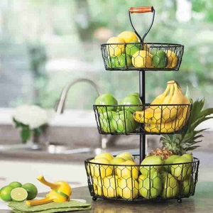 3-Tier Wire Storage Basket