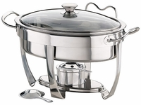 4 Qt Oval Chafing Dish with Glass Lid