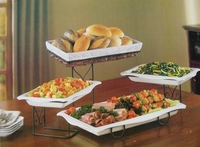4 Tier Buffet Server with Removable Plates & Bread Basket